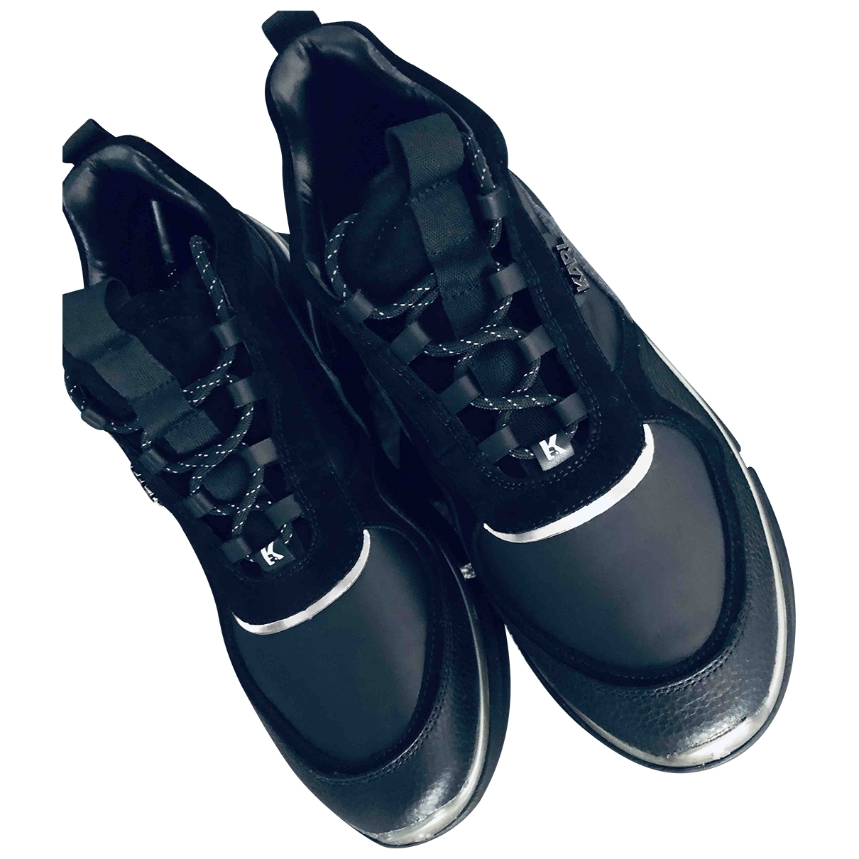 Karl Lagerfeld \N Black Leather Trainers for Men 44 EU