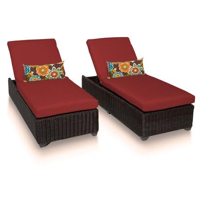 VENICE-2x-TERRACOTTA Venice Chaise Set of 2 Outdoor Wicker Patio Furniture with 2 Covers: Wheat and