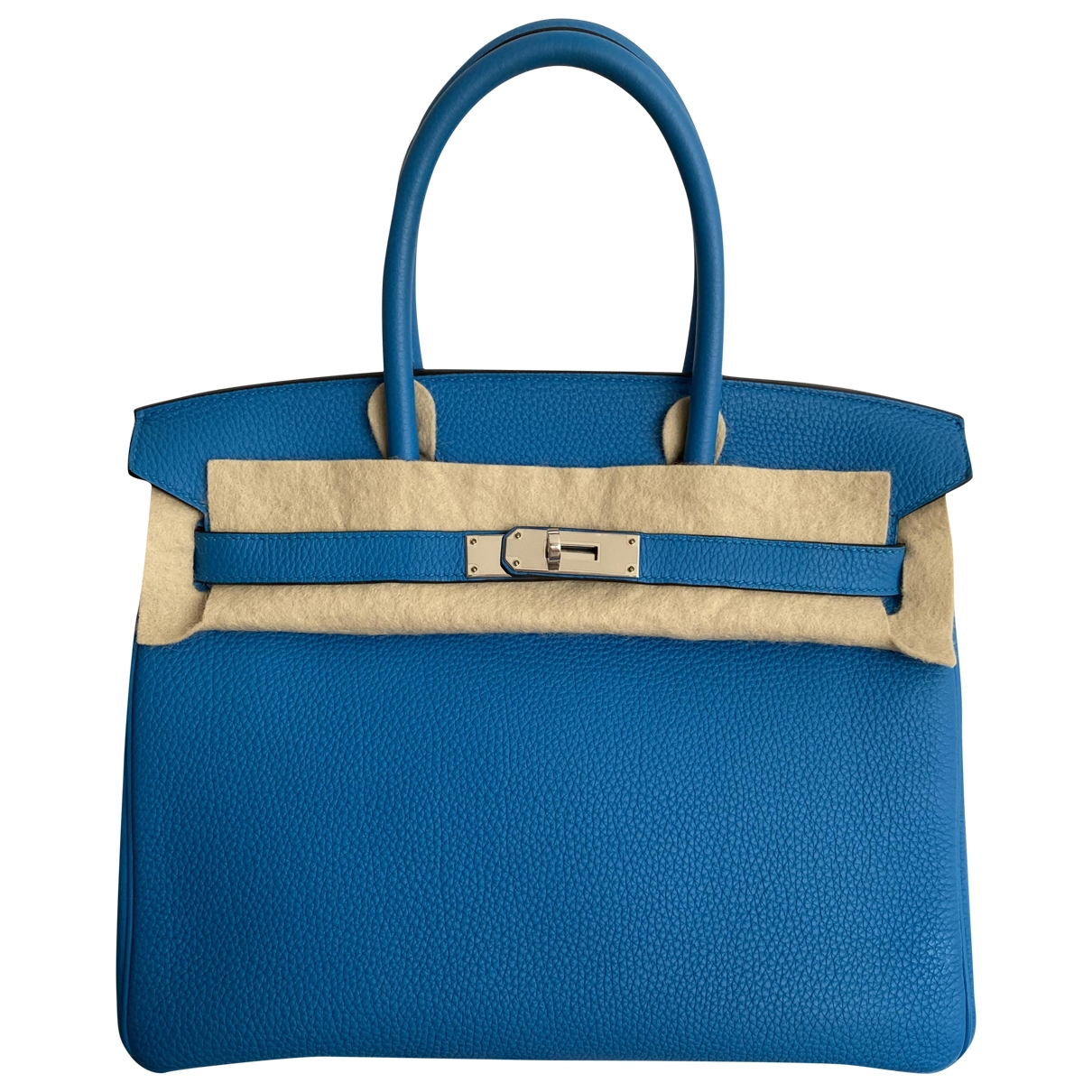 Hermès Birkin 30 Blue Leather handbag for Women \N
