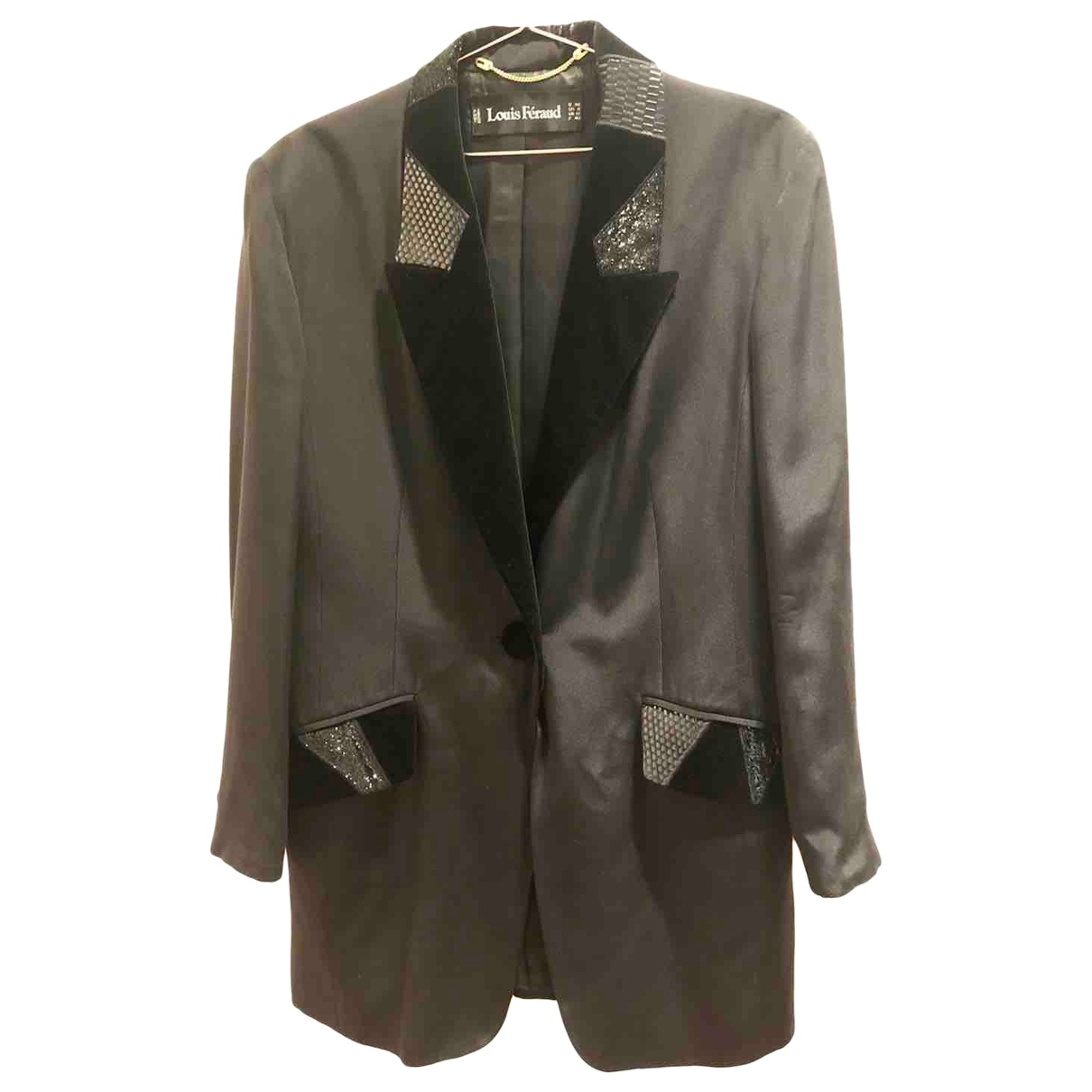 Louis Feraud \N Black Silk jacket for Women 40 FR