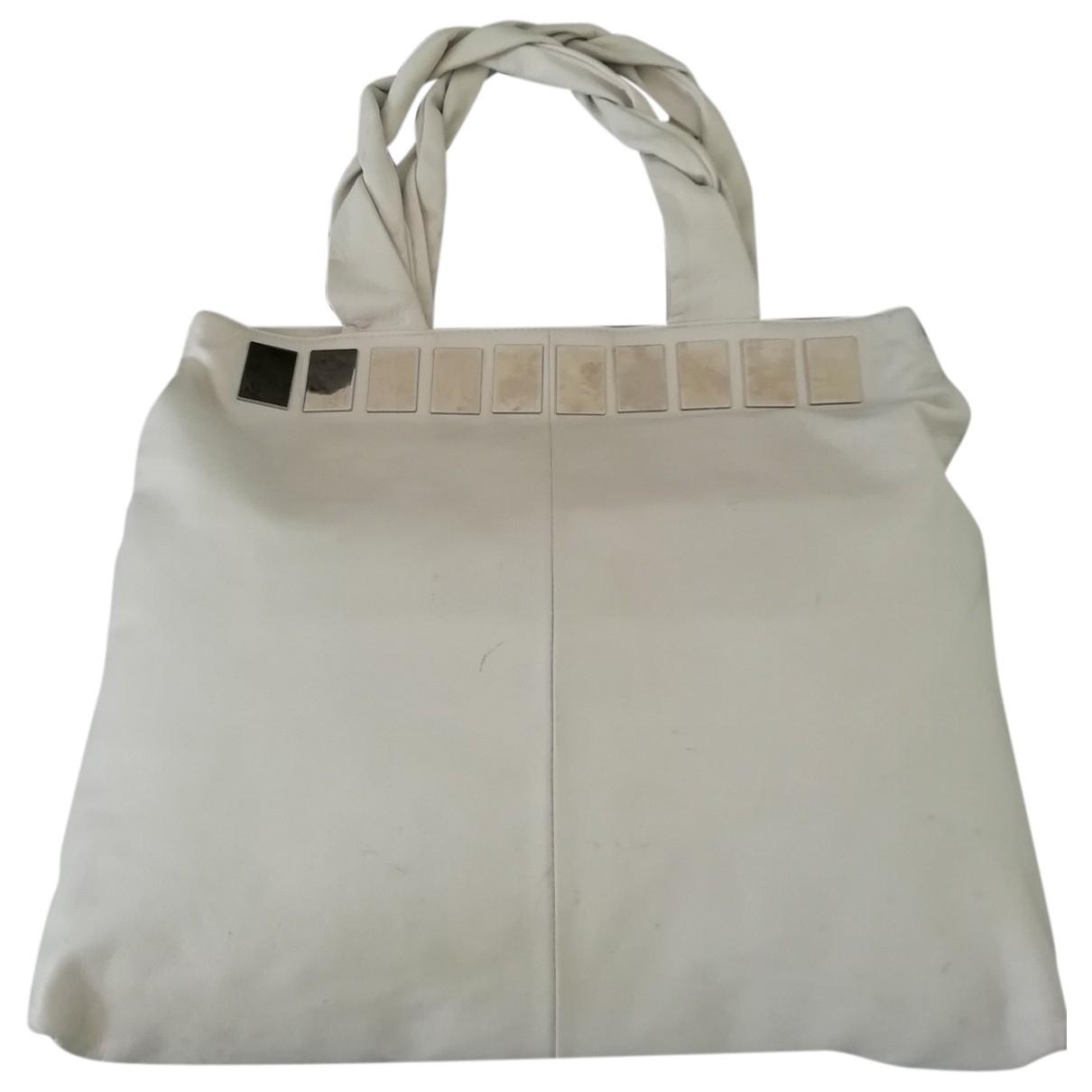 Bimba Y Lola \N White Shearling Travel bag for Women \N