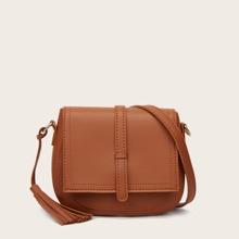Tassel Decor Crossbody Bag