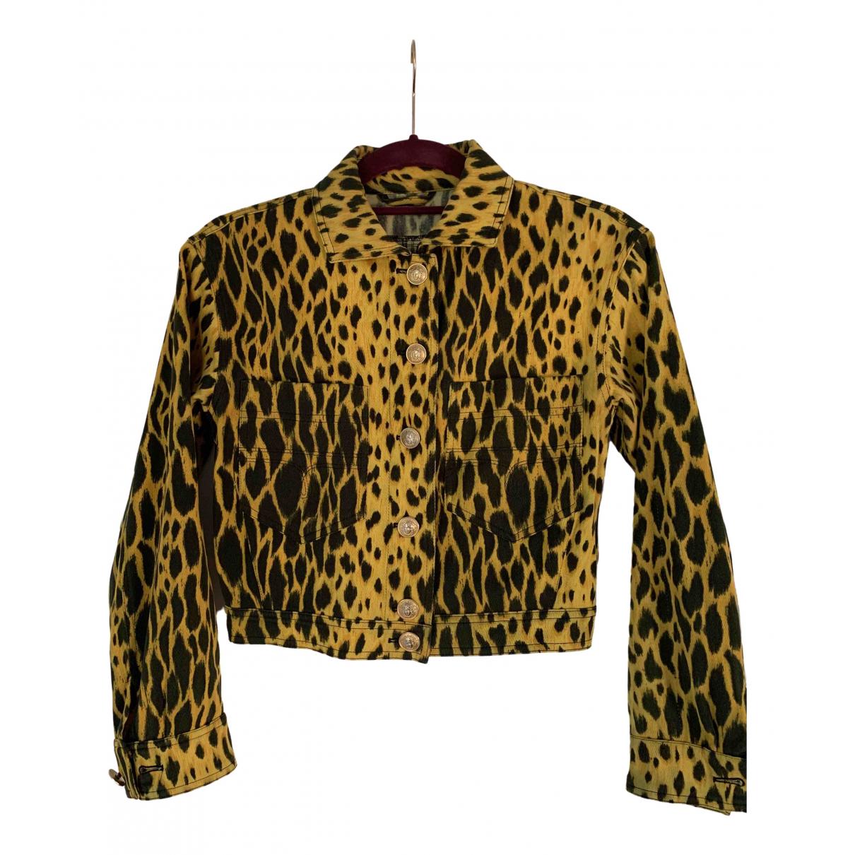 Gianni Versace \N Jacke in  Gelb Denim - Jeans