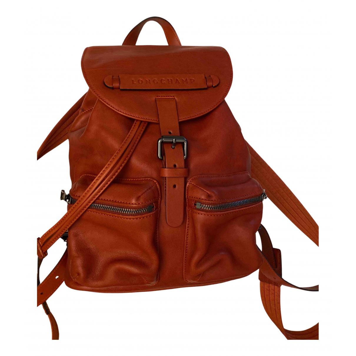 Longchamp - Sac a dos 3D pour femme en cuir - rouge