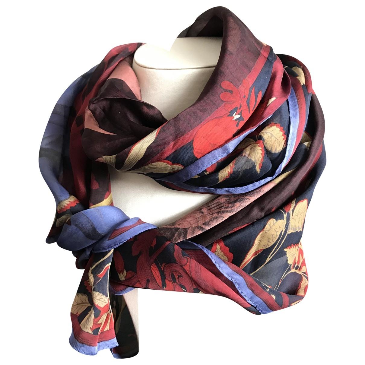 Gianfranco Ferre - Foulard   pour femme en soie - bordeaux