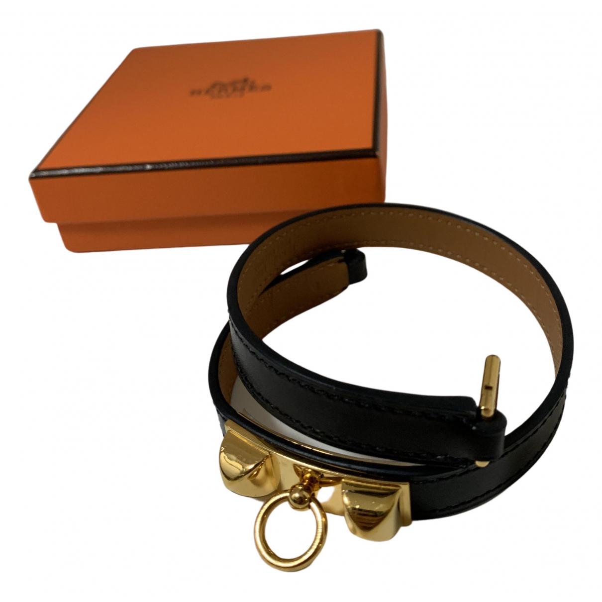 Hermes - Bracelet Rivale pour femme en metal - noir
