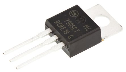 ON Semiconductor , -5 V Linear Voltage Regulator, 1A, 1-Channel Negative, ±4% 3-Pin, TO-220 MC7905CTG