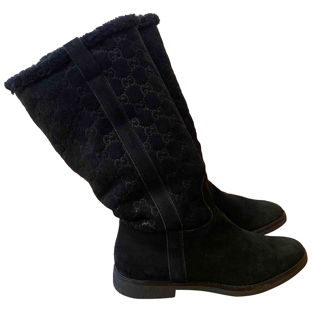 Gucci - Bottes   pour femme en mouton - noir