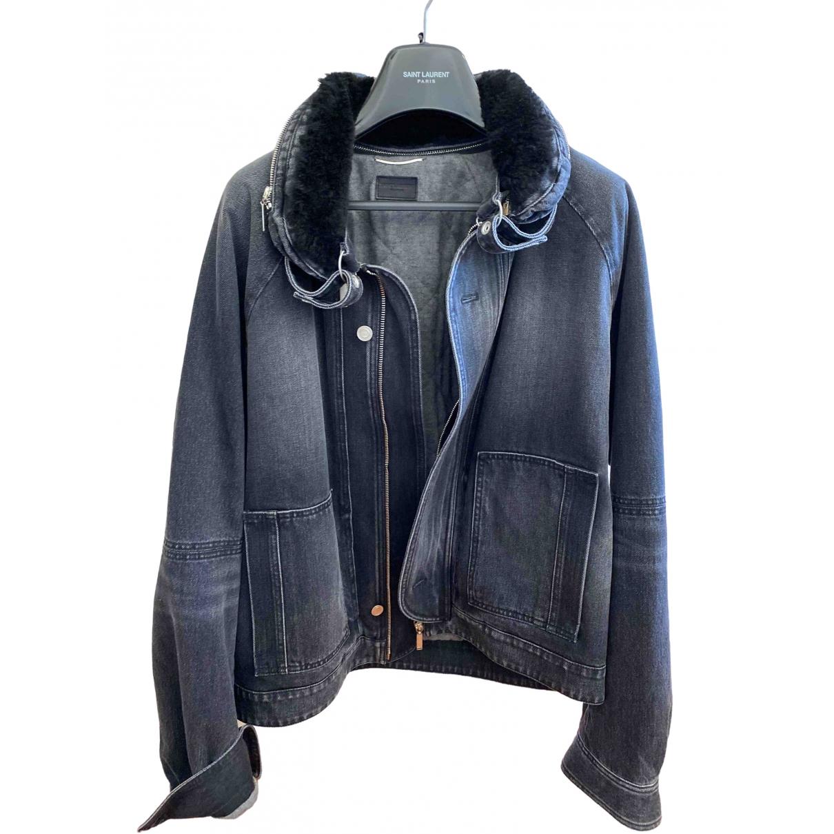 Saint Laurent \N Grey Denim - Jeans jacket  for Men XL International