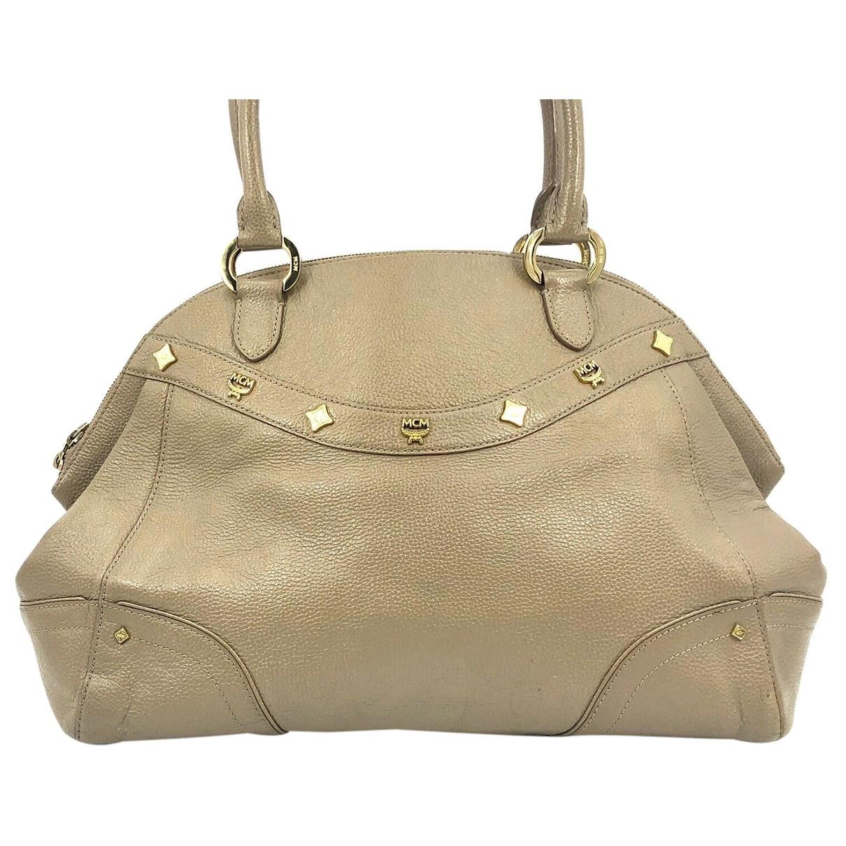 Mcm \N Handtasche in  Beige Leder