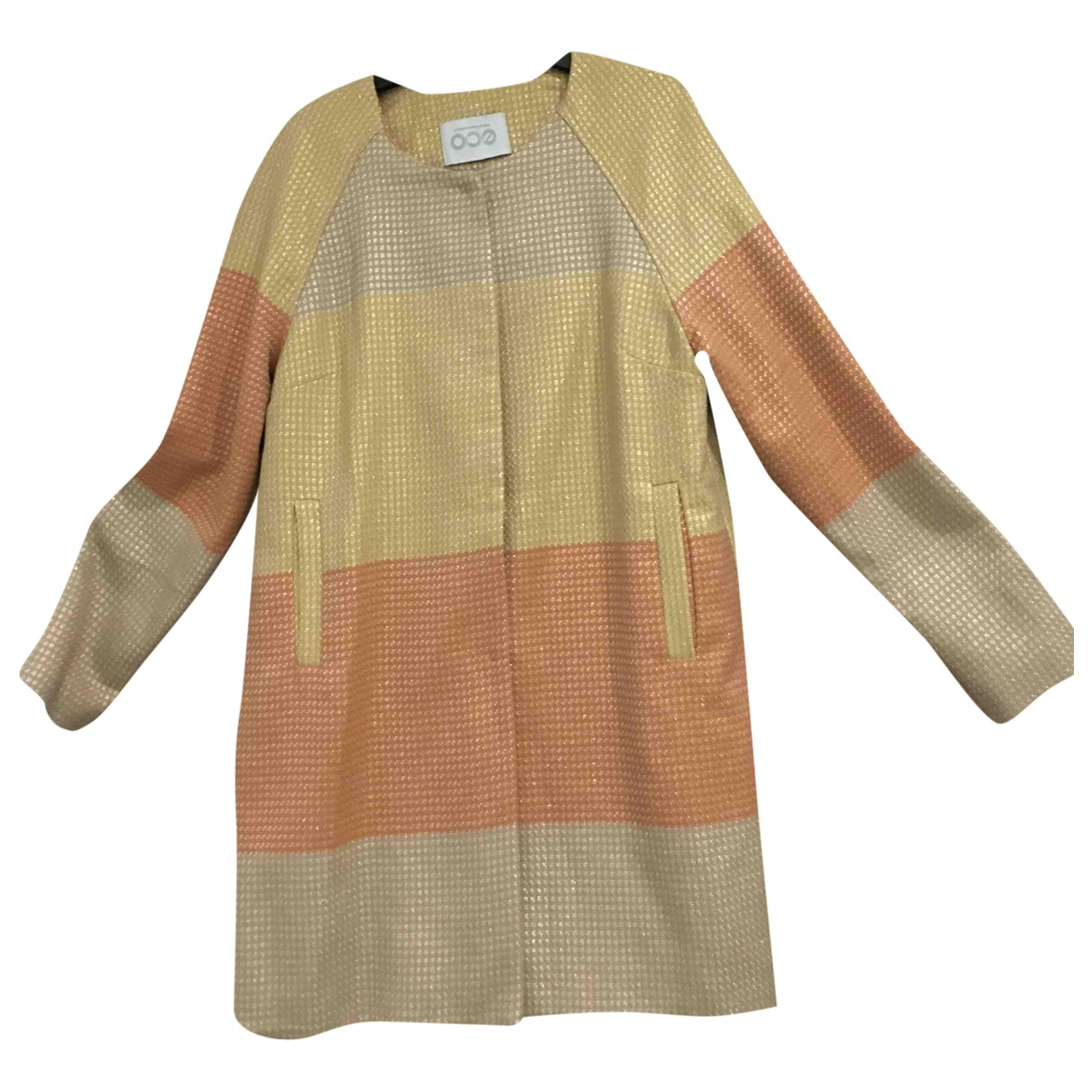 Non Signé / Unsigned \N Gold Cotton jacket for Women 44 FR