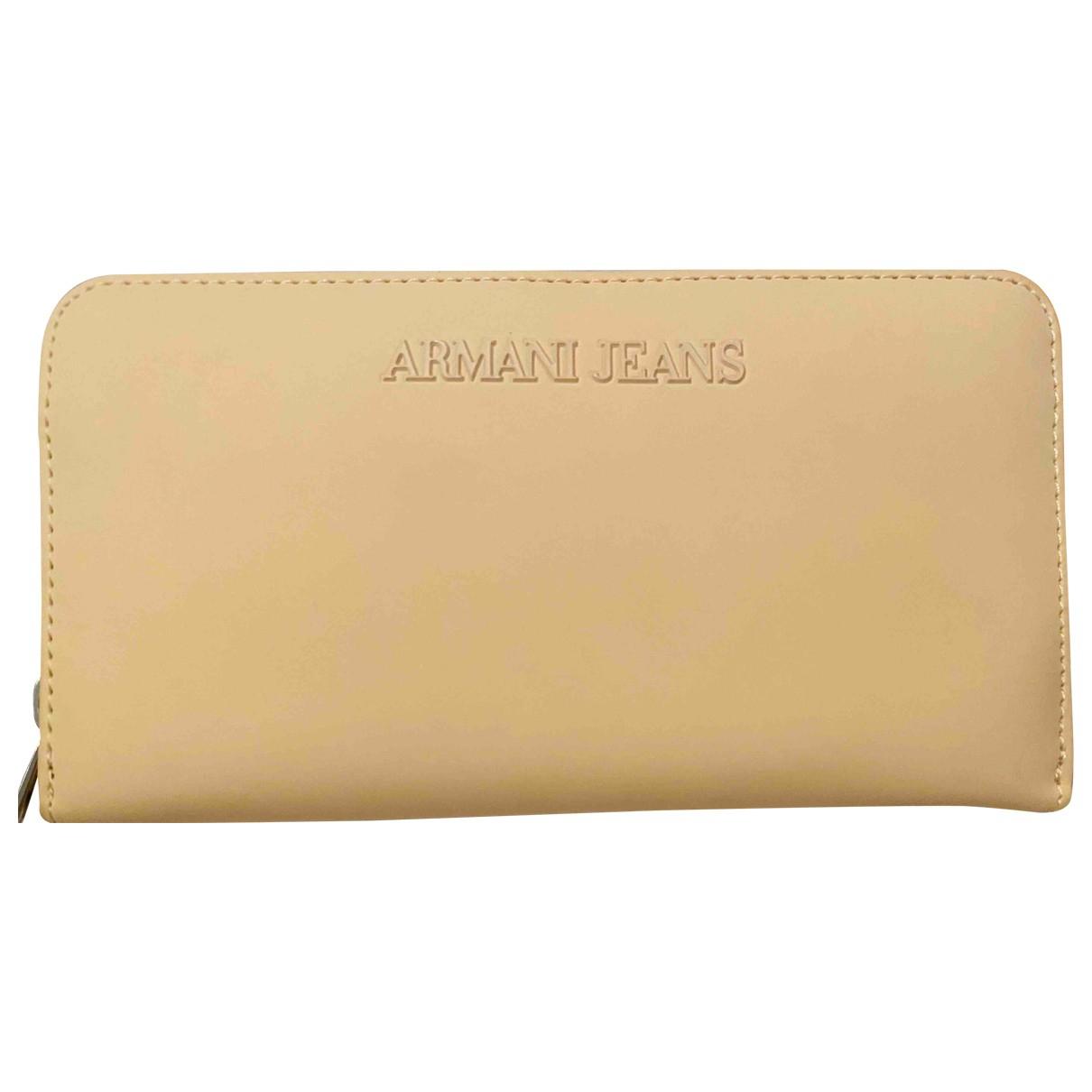 Armani Jeans \N Beige wallet for Women \N