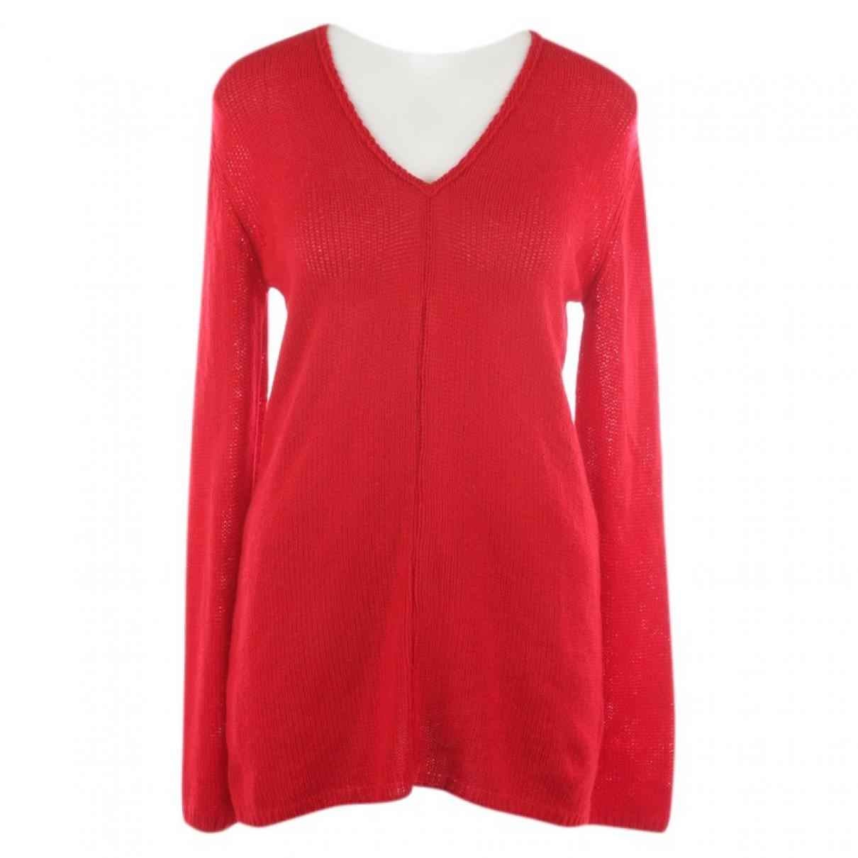 Prada - Pull   pour femme en cachemire - rouge