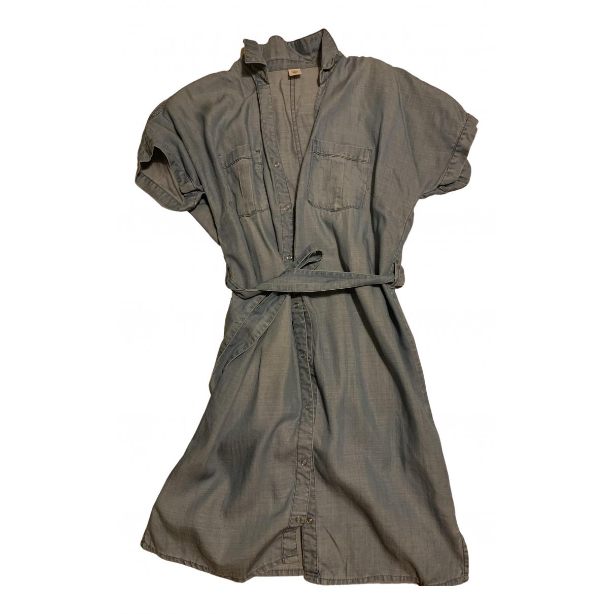 Massimo Dutti \N Kleid in  Blau Denim - Jeans