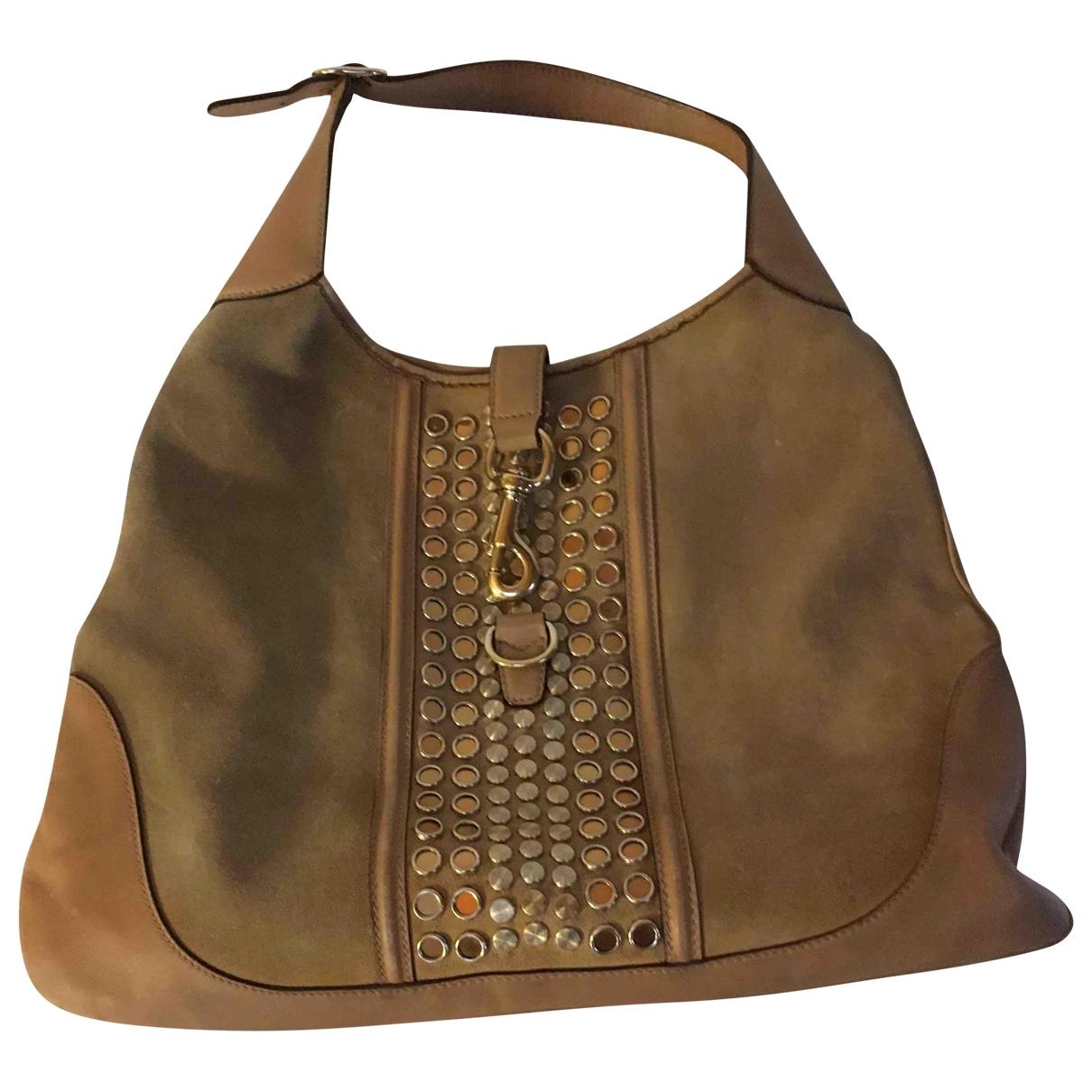 Gucci Jackie Vintage  Camel Suede handbag for Women \N