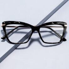 Katzenaugen-Brille mit Rahmen aus Acryl