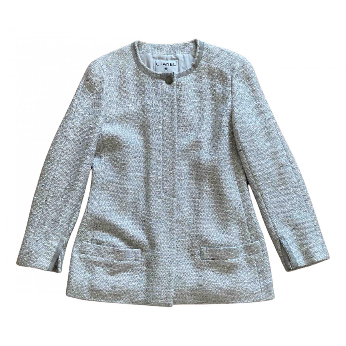Chanel N Silver Wool jacket for Women 42 FR