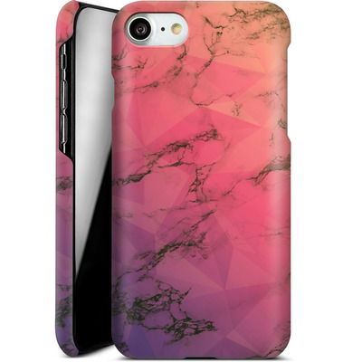 Apple iPhone 7 Smartphone Huelle - Marbled Triangles von Joel Perroden