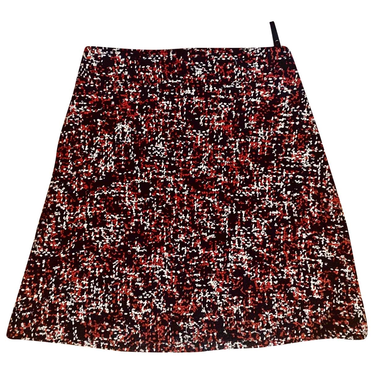 Christian Dior - Jupe   pour femme en tweed - rouge