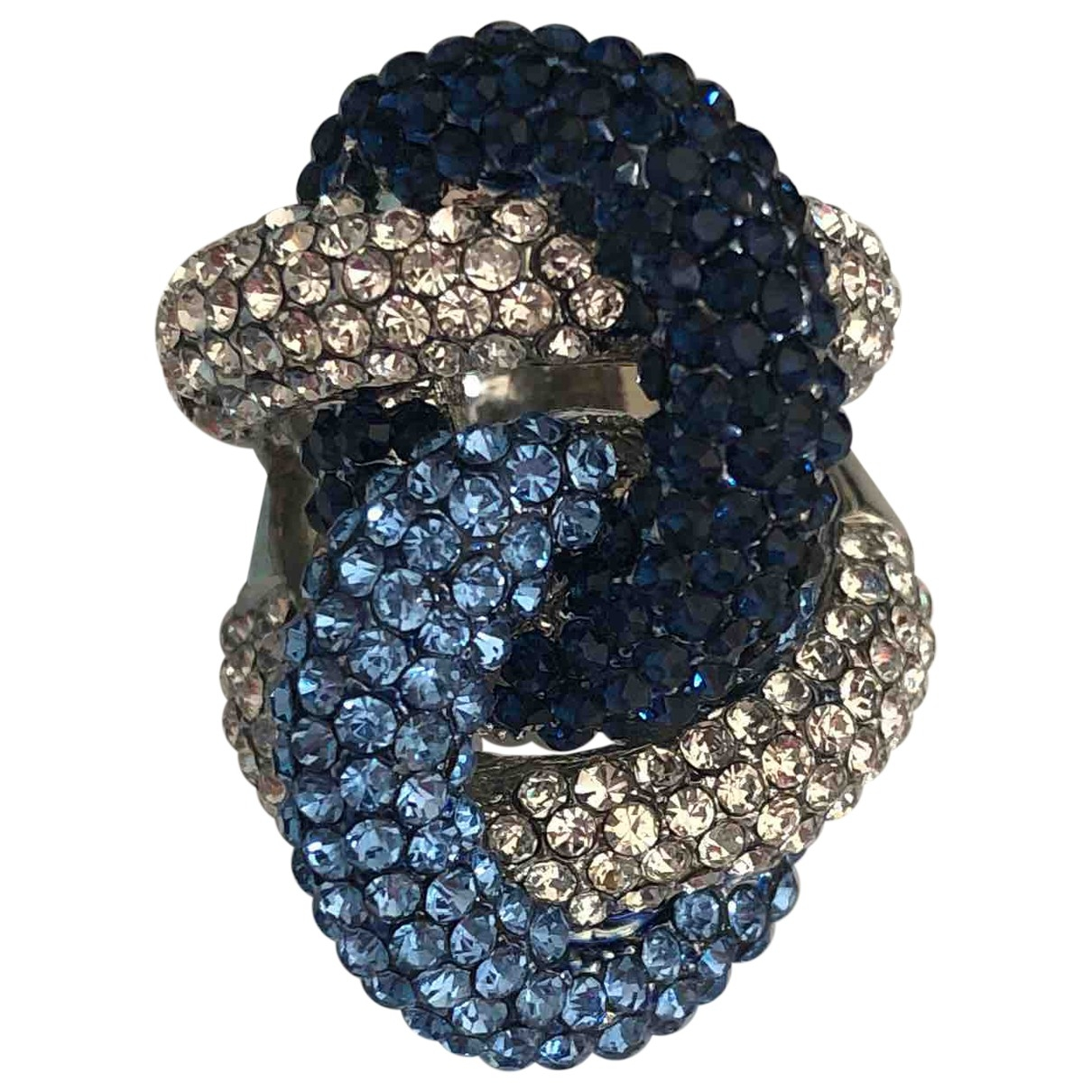 Non Signe / Unsigned \N Ring in  Blau Metall