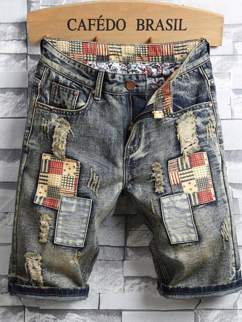 Ericdress Men's Slim Casual Jeans Shorts