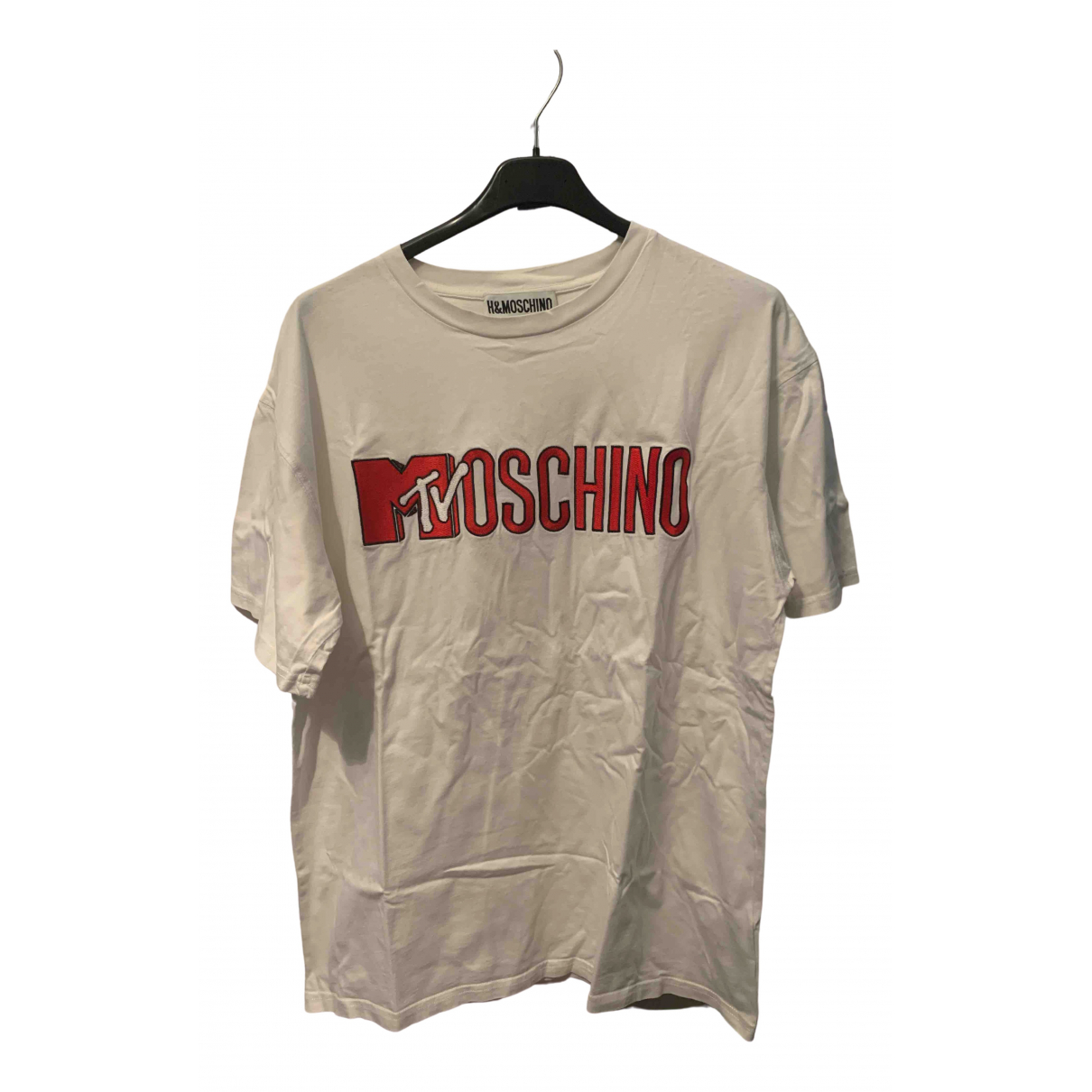 Moschino For H&m - Tee shirts   pour homme en coton - blanc