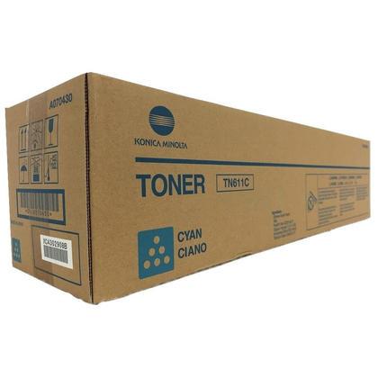 Konica-Minolta A070430 Original TN611C cartouche de toner originale cyan