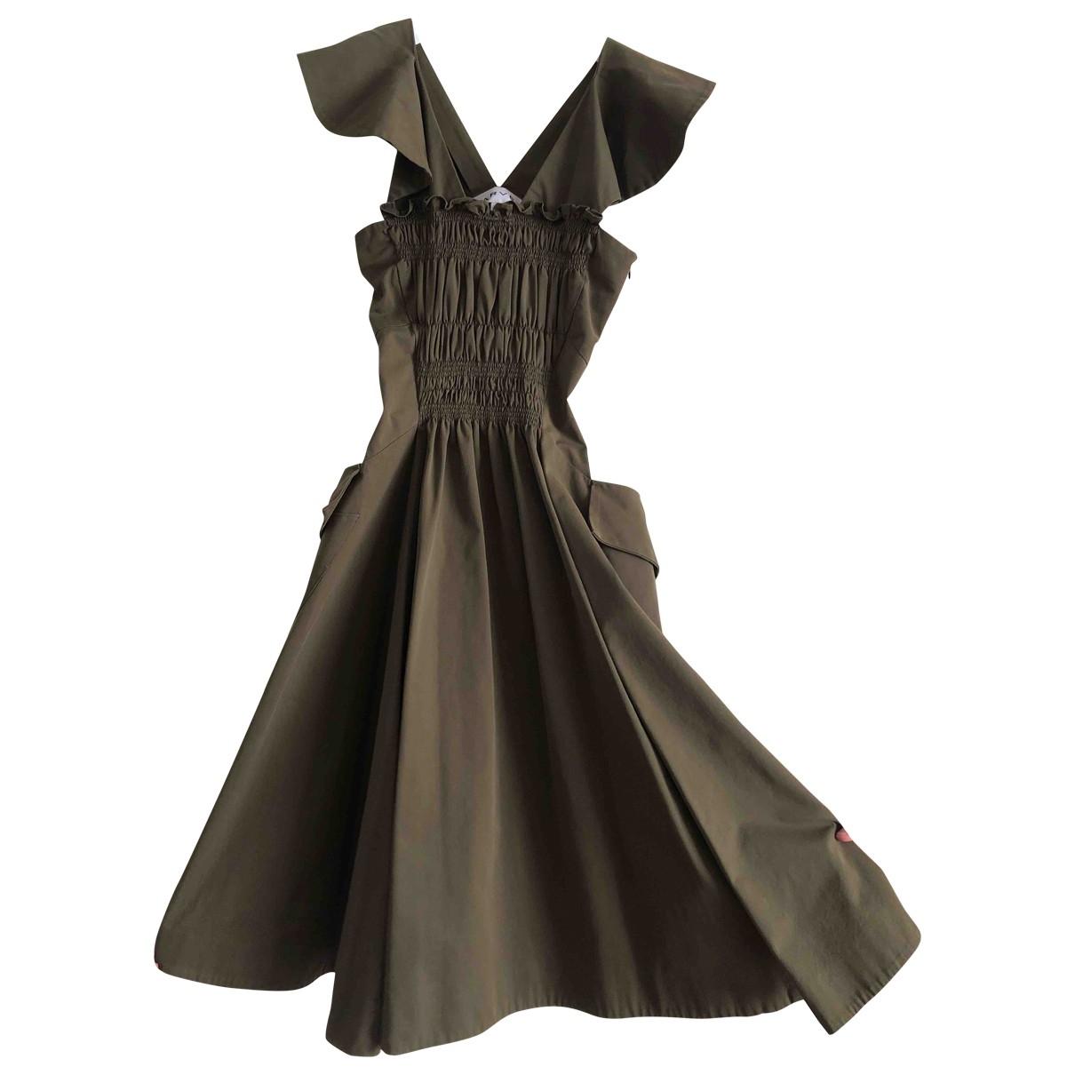 Carven - Robe   pour femme en coton - kaki
