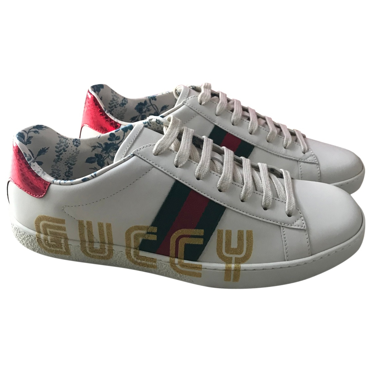 Gucci - Baskets Ace pour femme en cuir - blanc