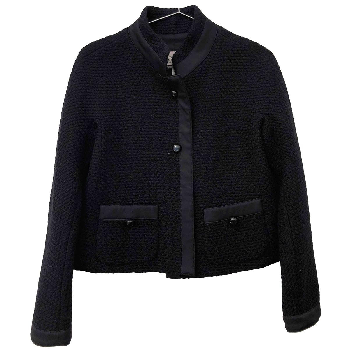 Armani Collezioni \N Jacke in  Blau Wolle