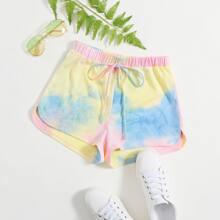 Delphin Shorts mit Knoten Taille und Batik