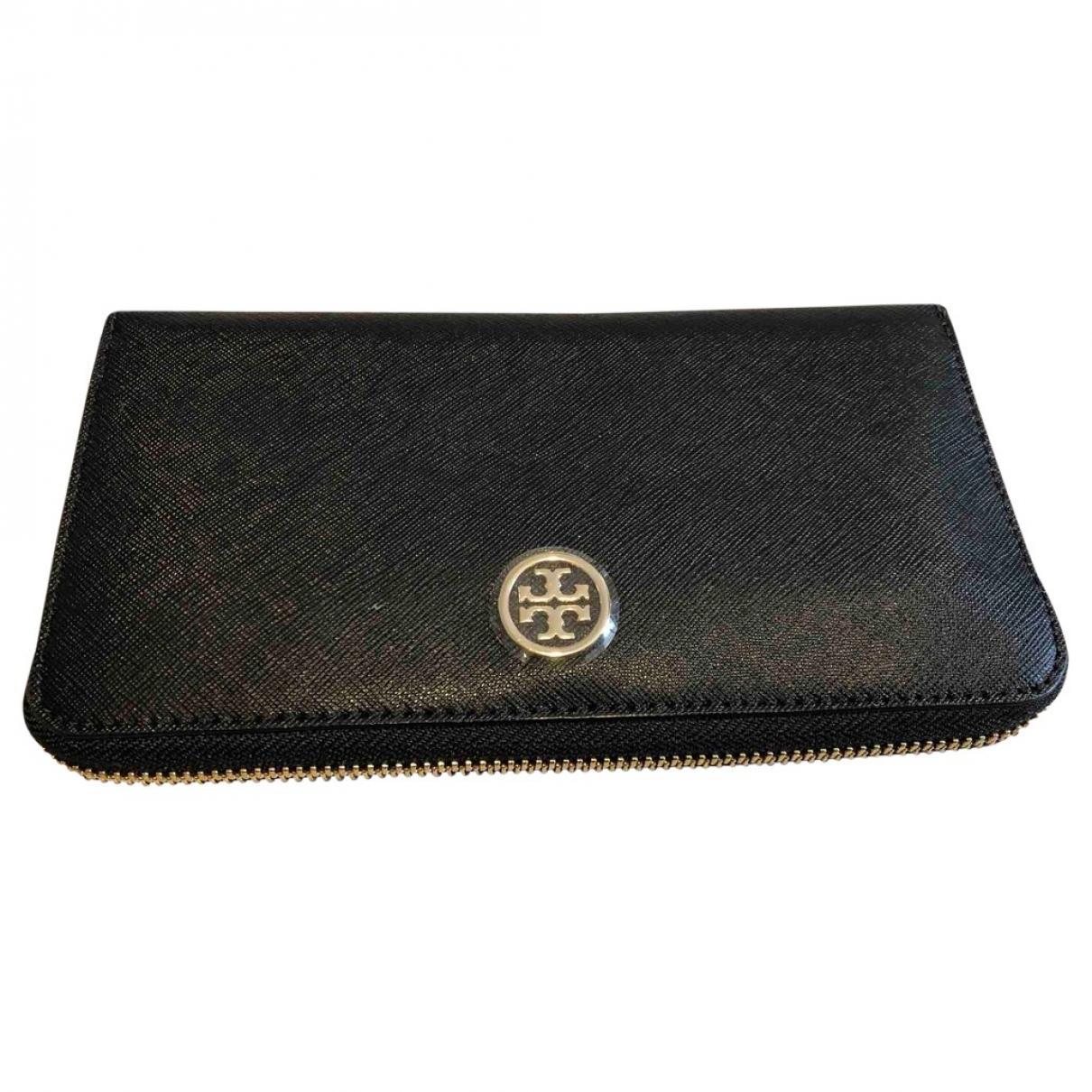 Tory Burch \N Black Leather wallet for Women \N