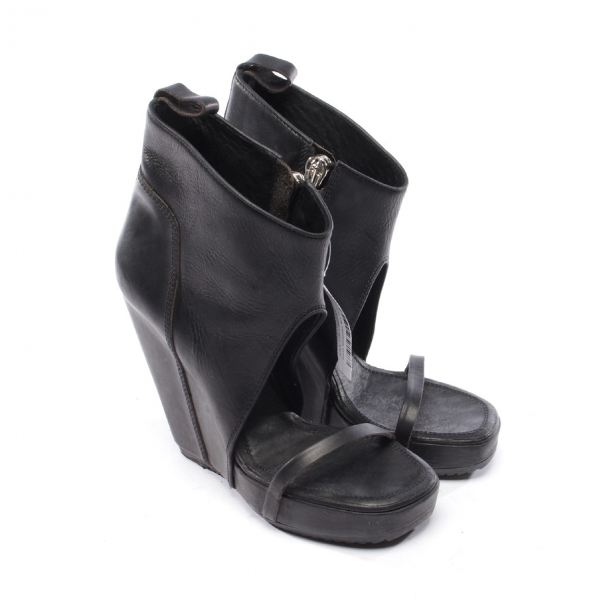 Rick Owens \N Black Leather Sandals for Women 39 EU