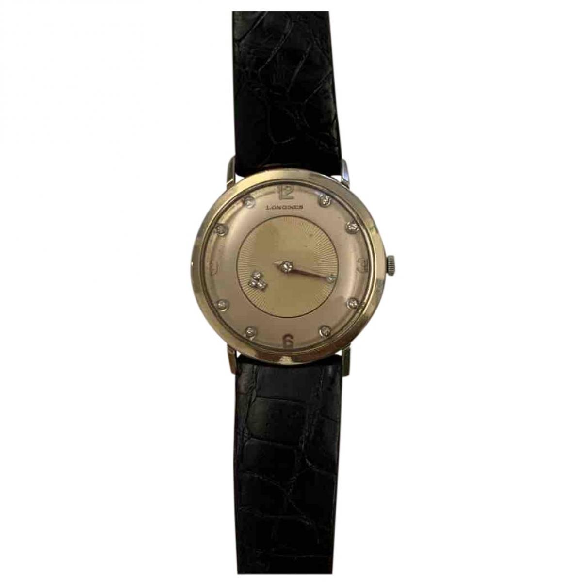 Longines \N Uhr in  Beige Weissgold