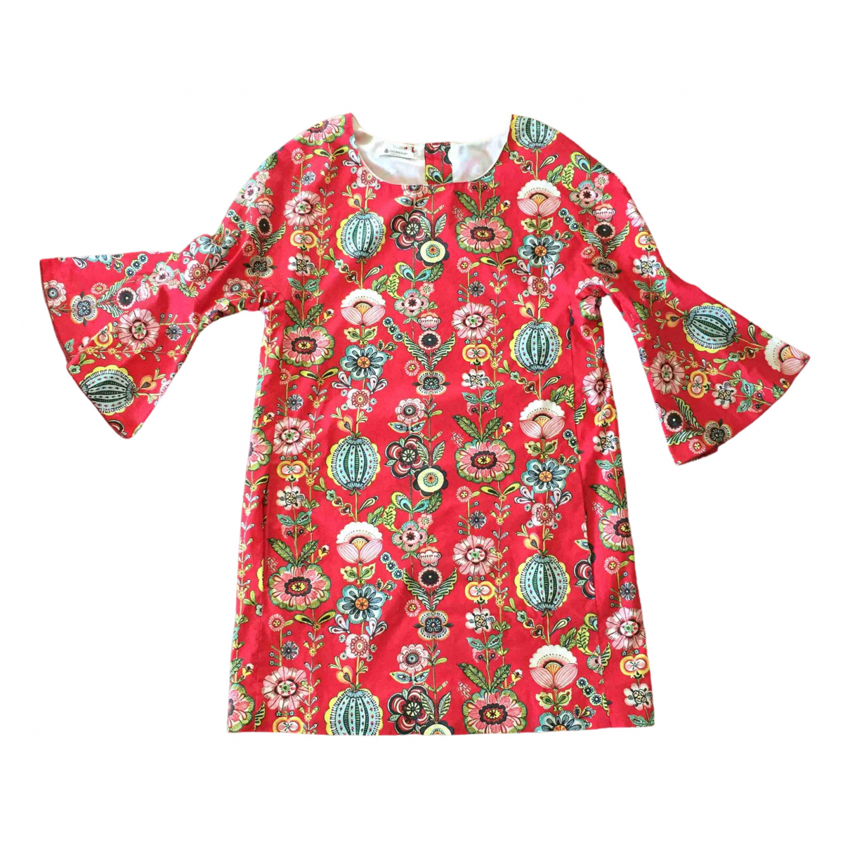 Dondup \N Kleid in  Rot Baumwolle