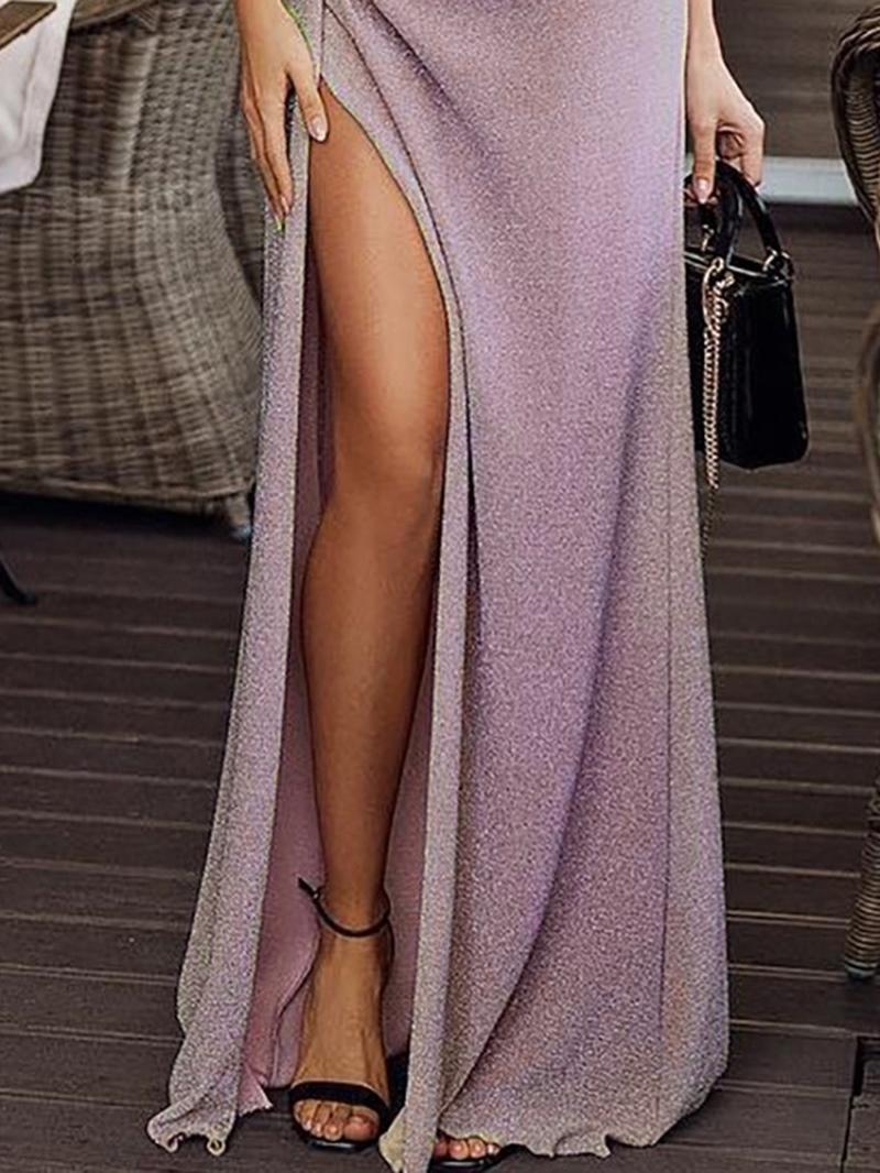 Ericdress Slash Neck Split Half Sleeve Dress
