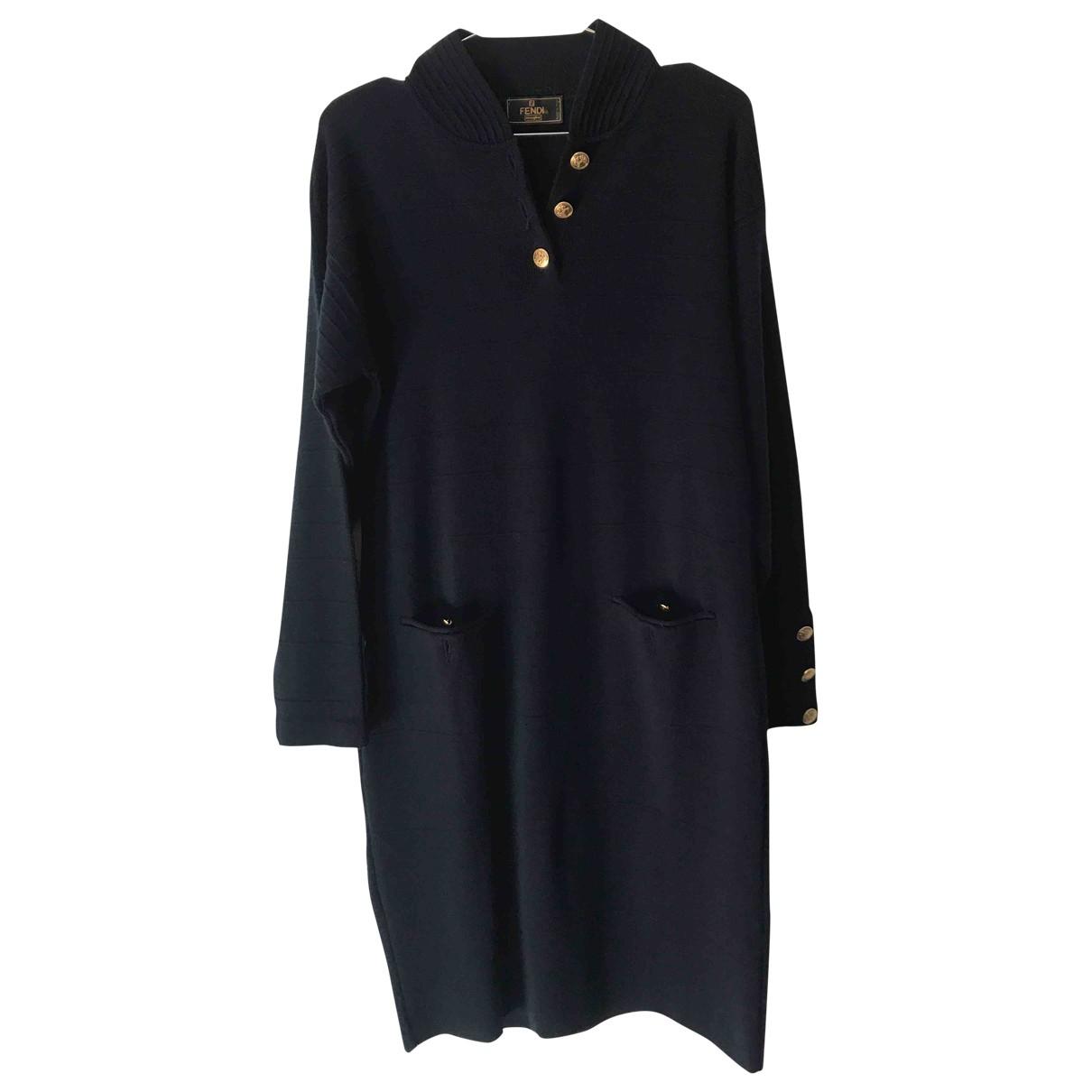 Fendi - Robe   pour femme en laine - bleu