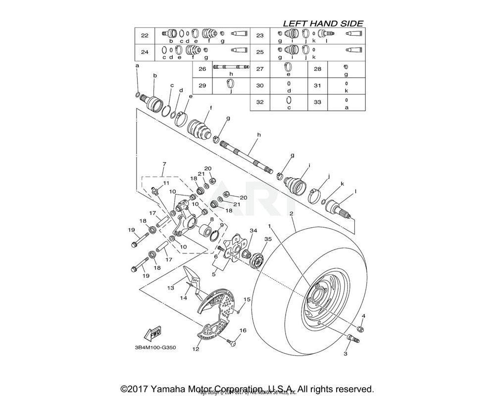 Yamaha OEM 5UG-F530B-00-00 WHEEL CAP ASSY.