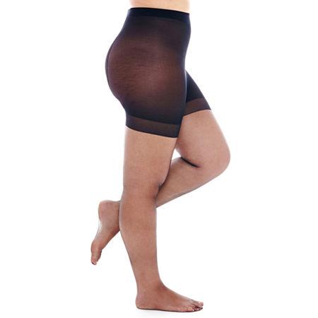Berkshire Ultra-Sheer Control Top Pantyhose - Queen-Petite, 1x-2x , Black