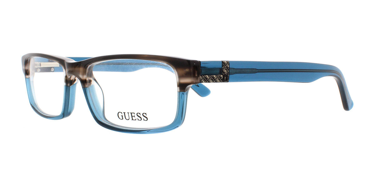 Guess GU 1750 I89 Men's Glasses Blue Size 52 - Free Lenses - HSA/FSA Insurance - Blue Light Block Available