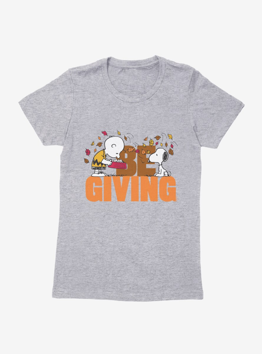 Peanuts Thanksgiving Be Giving Womens T-Shirt