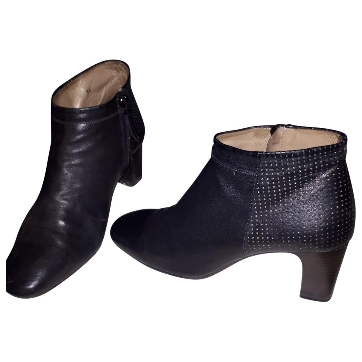 Laboratorigarbo - Boots   pour femme en cuir - noir