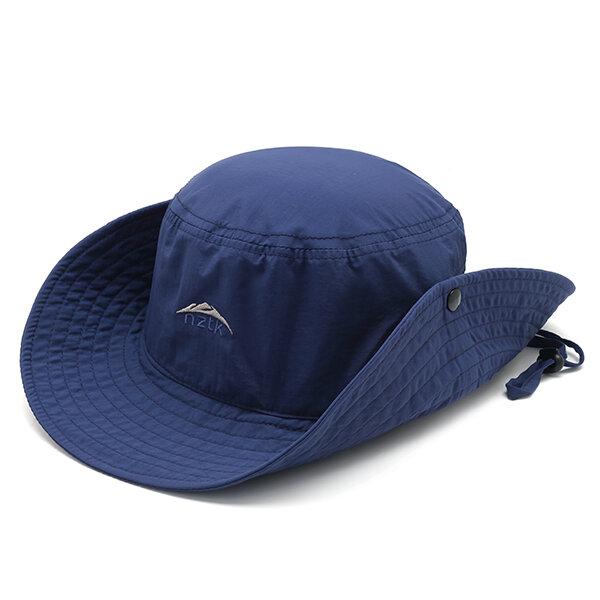 Men Folding Summer Sun Cap Breathable Adjustable Fishing Bucket Hat Outdoor Visor Hat