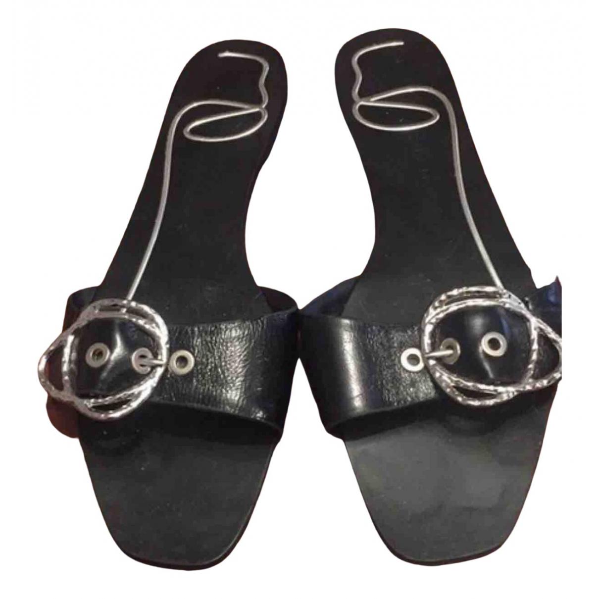 Zara \N Sandalen in  Schwarz Kunststoff