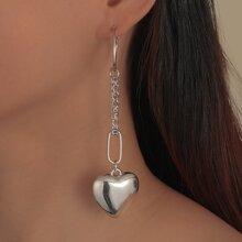 Heart Charm Drop Earrings