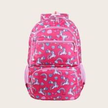 Girls Cartoon Graphic Backpack