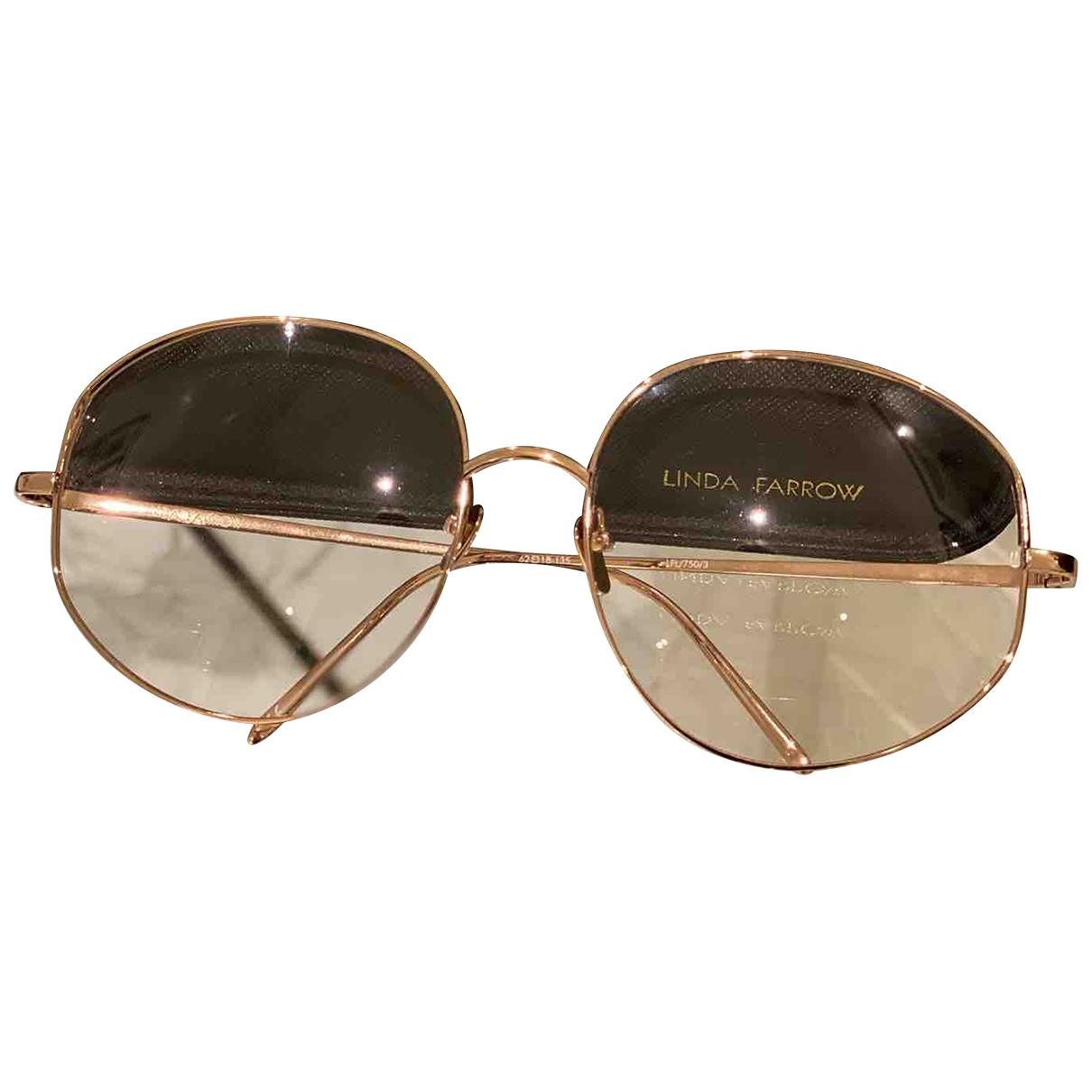 Linda Farrow \N Yellow Metal Sunglasses for Women \N