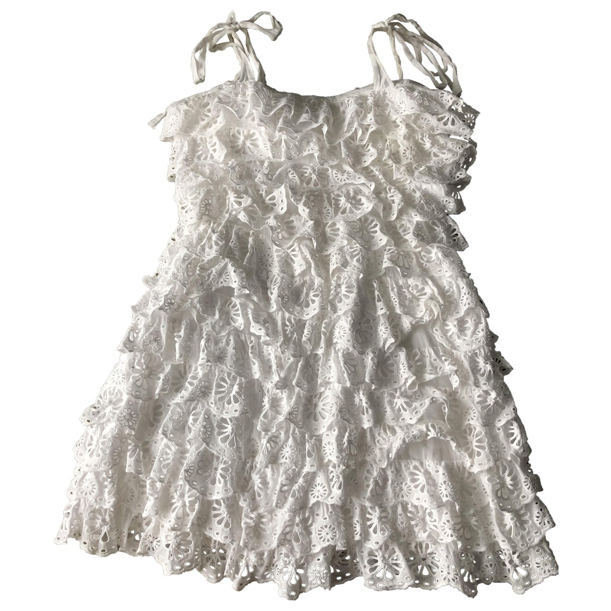 Zimmermann \N White Cotton dress for Women 1 0-5
