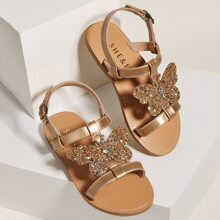 Toddler Girls Butterfly Appliques Sandals