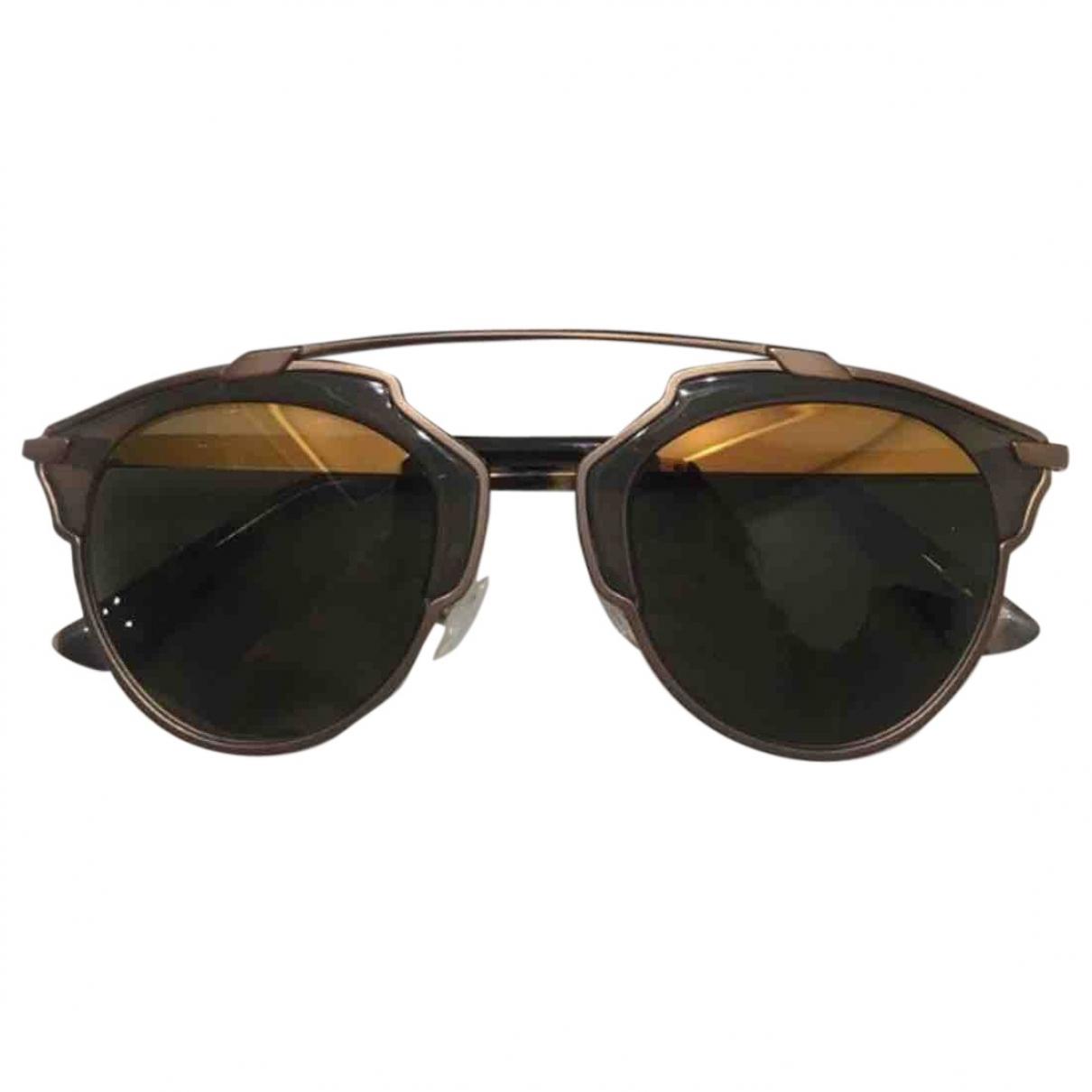 Dior So Real  Brown Metal Sunglasses for Women \N
